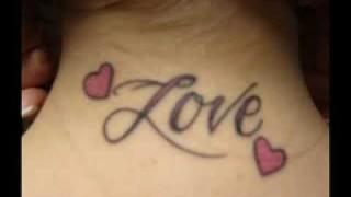Shoulder Arm Back 3D font tattoos for men and women